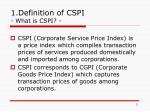 1 definition of cspi what is cspi