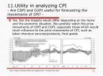 11 utility in analyzing cpi are cspi and cgpi useful for forecasting the movements of cpi