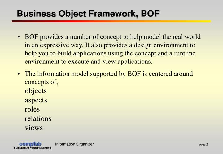 Business Object Framework, BOF