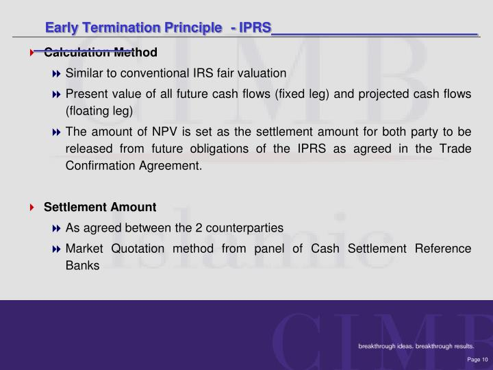 Early Termination Principle- IPRS