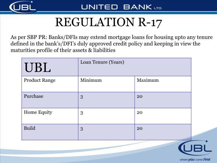 REGULATION R-17