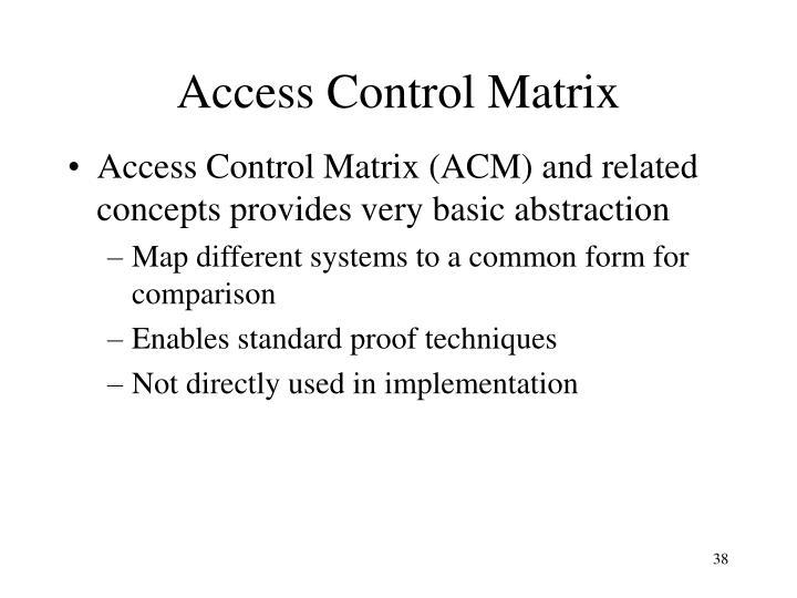 Access Control Matrix