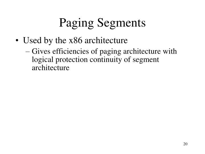 Paging Segments