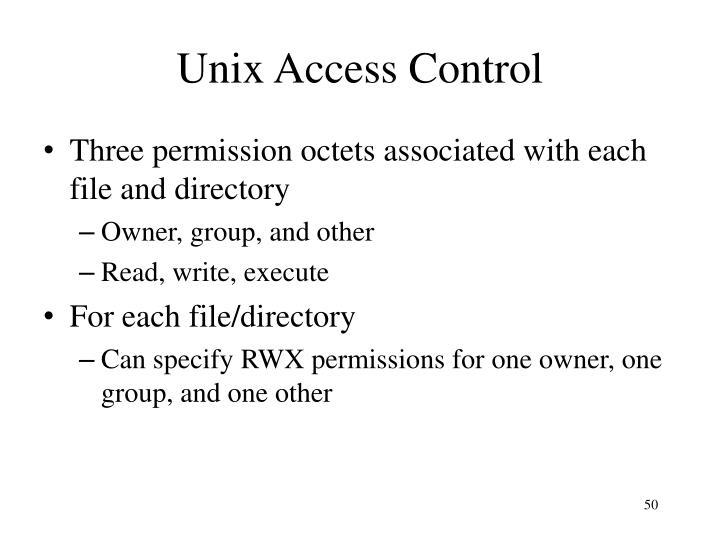 Unix Access Control