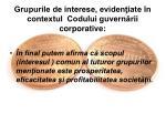 grupurile de interese eviden iate n contextul codului guvern rii corporative2