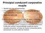 principiul conducerii corporative reu ite