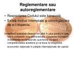 reglementare sau autoreglementare