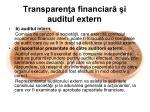 transparen a financiar i auditul extern1