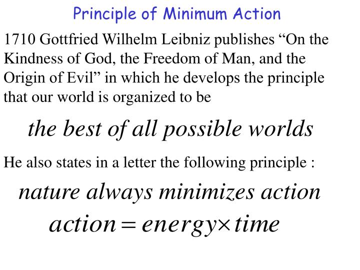 Principle of Minimum Action
