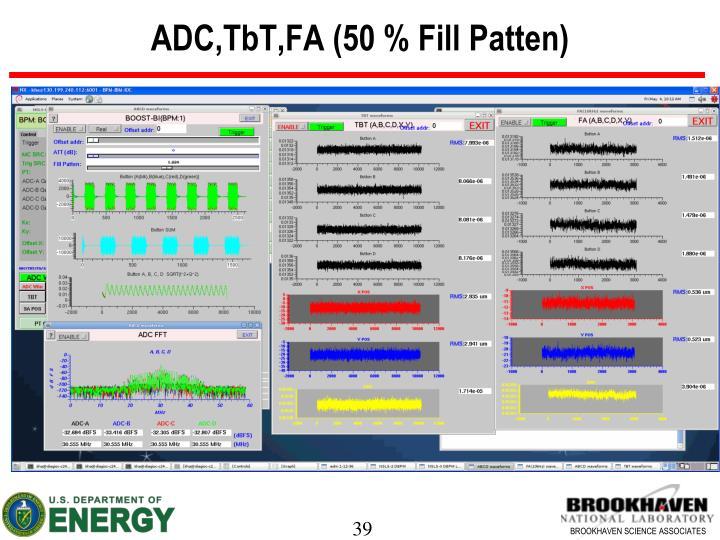 ADC,TbT,FA (50 % Fill Patten)