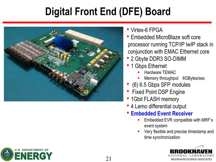 Digital Front End (DFE) Board