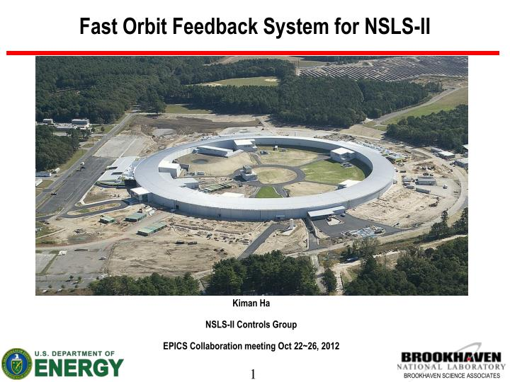 Fast orbit feedback system for nsls ii