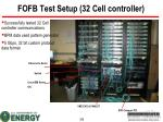 fofb test setup 32 cell controller