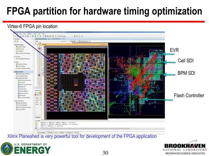 FPGA partition for hardware timing optimization