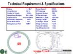 technical requirement specifications
