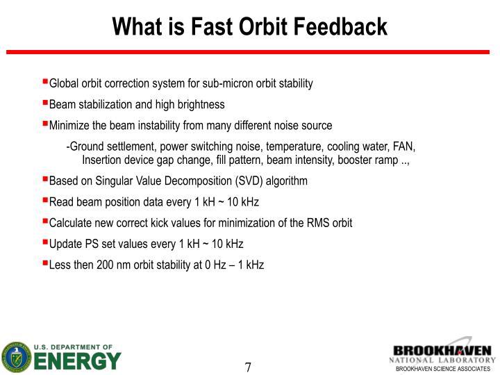 What is Fast Orbit Feedback