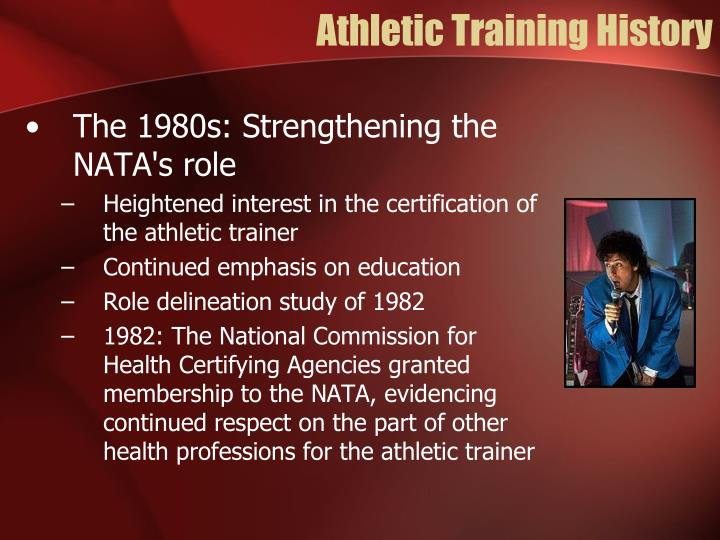 Athletic Training History