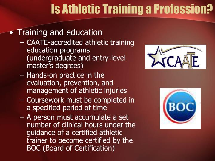 Is Athletic Training a Profession?
