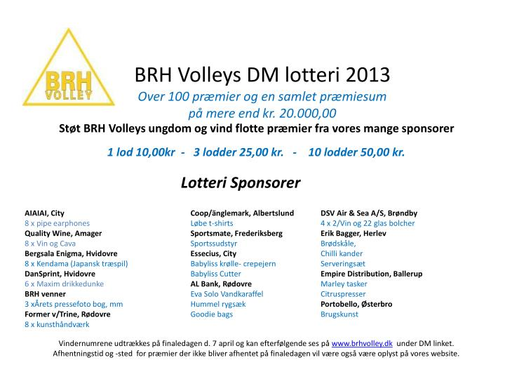 BRH Volleys DM lotteri 2013
