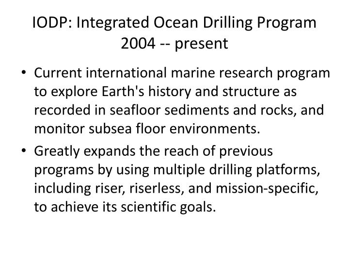 IODP: Integrated Ocean Drilling Program