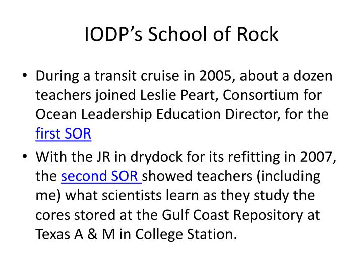 IODP's School of Rock