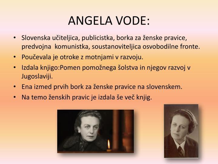 ANGELA VODE:
