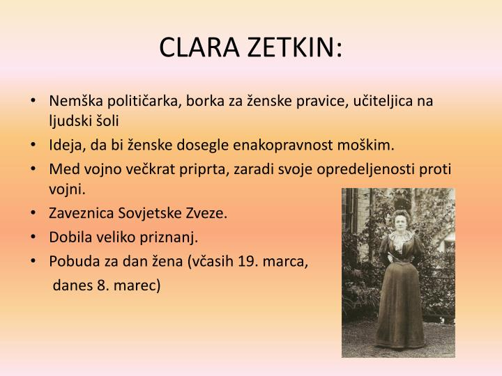 CLARA ZETKIN: