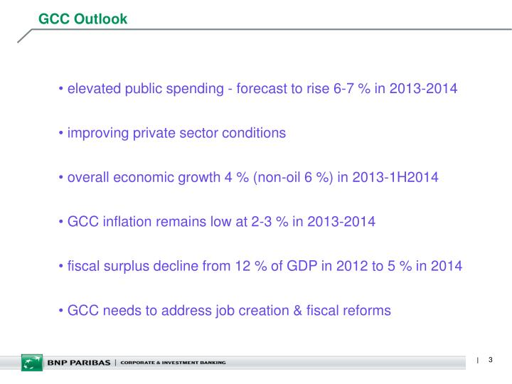 Gcc outlook