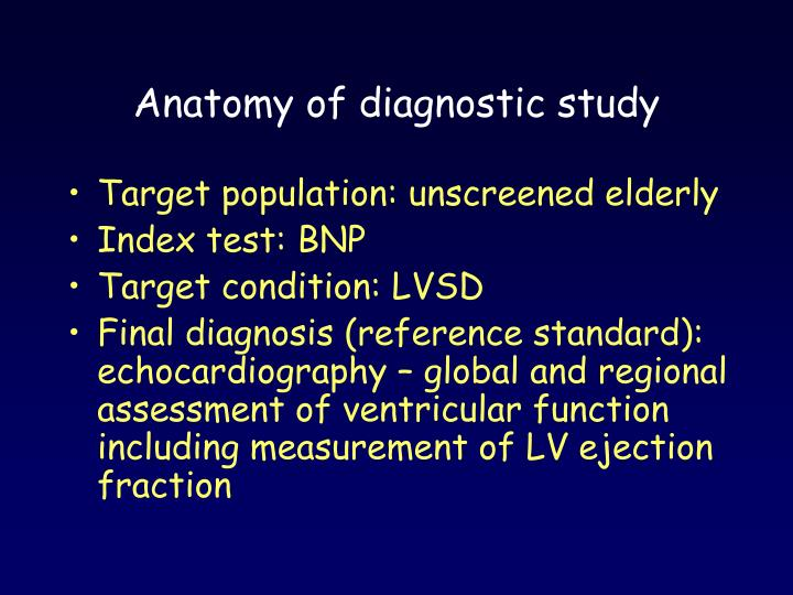 Anatomy of diagnostic study