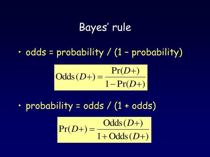 Bayes' rule