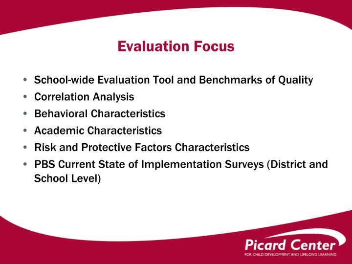 Evaluation focus