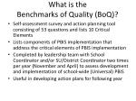 what is the benchmarks of quality boq