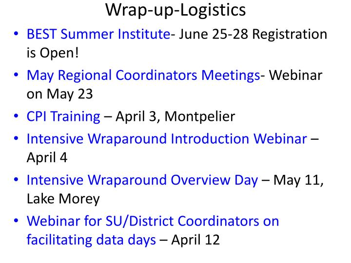 Wrap-up-Logistics