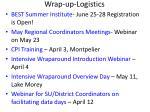 wrap up logistics