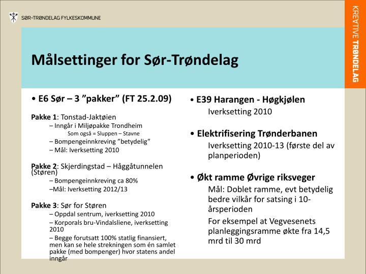 """E6 Sør – 3 """"pakker"""" (FT 25.2.09)"""