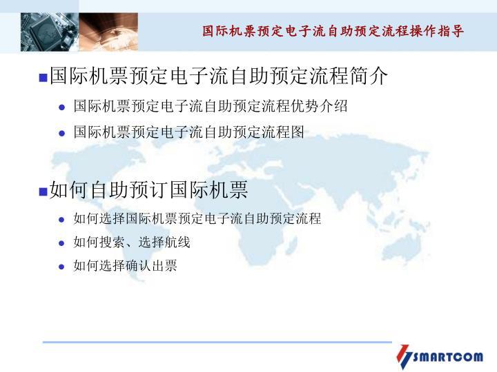 国际机票预定电子流自助预定流程操作指导