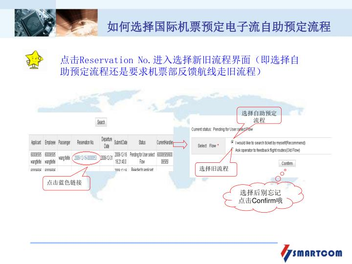 如何选择国际机票预定电子流自助预定流程