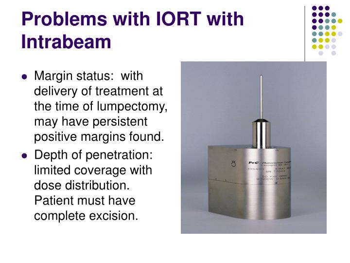 Problems with IORT with Intrabeam
