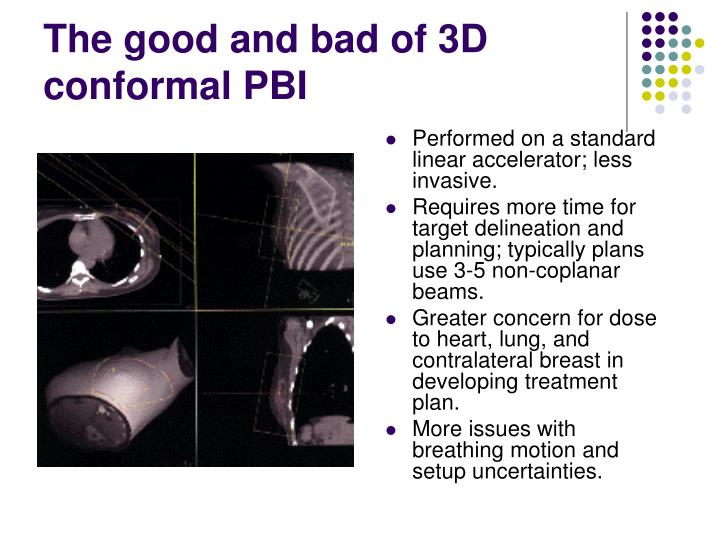The good and bad of 3D conformal PBI
