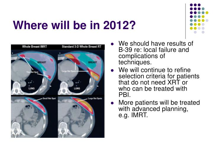 Where will be in 2012?