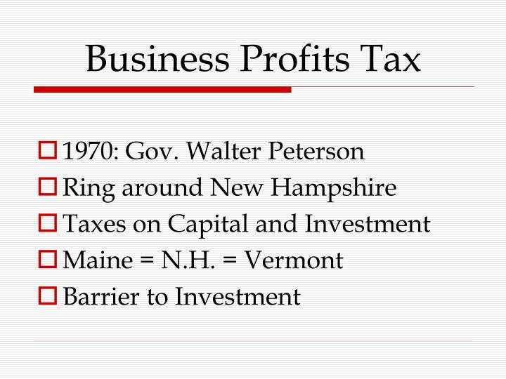 Business Profits Tax