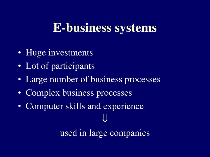 E-business systems