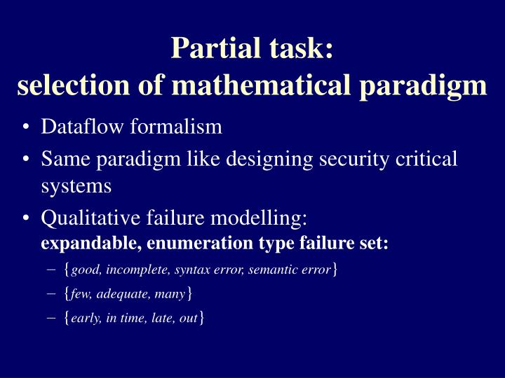 Partial task: