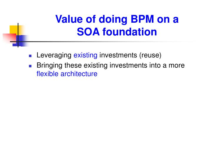 Value of doing BPM on a