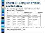example cartesian product and selection