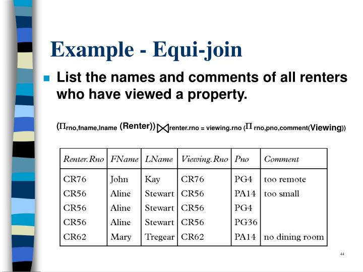 Example - Equi-join