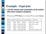 example equi join
