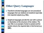 other query languages