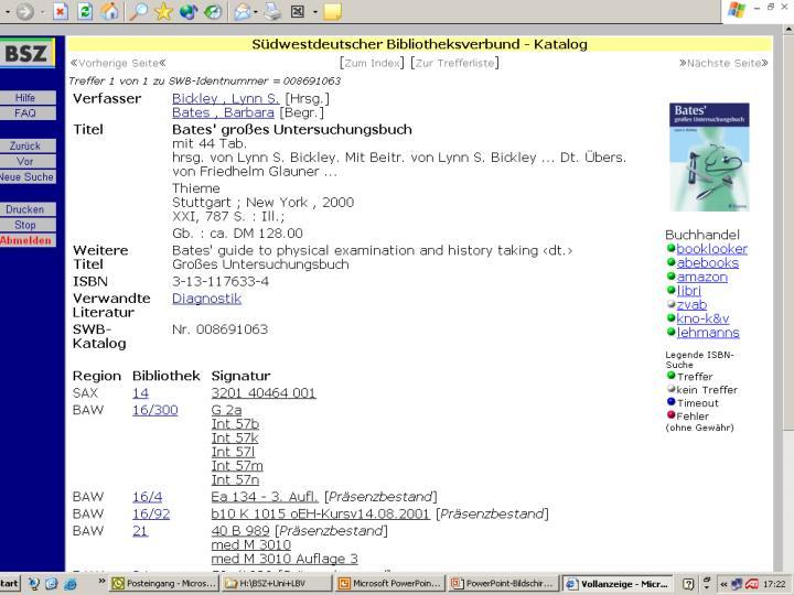 VdB-Fortbildung 5.7.04