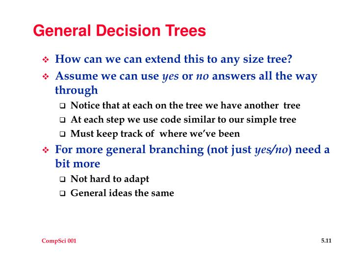 General Decision Trees